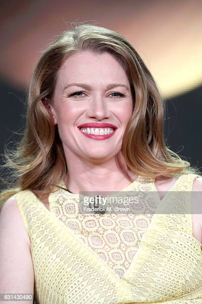 Actress Mireille Enos of the television show 'The Catch' speaks onstage during the DisneyABC portion of the 2017 Winter Television Critics...