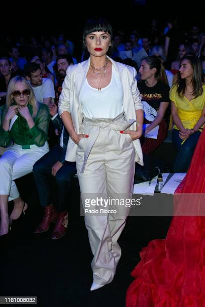 Actress Miren Ibarguren attends Ana Locking fashion show during the Mercedes Benz Fashion Week Spring/Summer 2020 on July 09 2019 in Madrid Spain