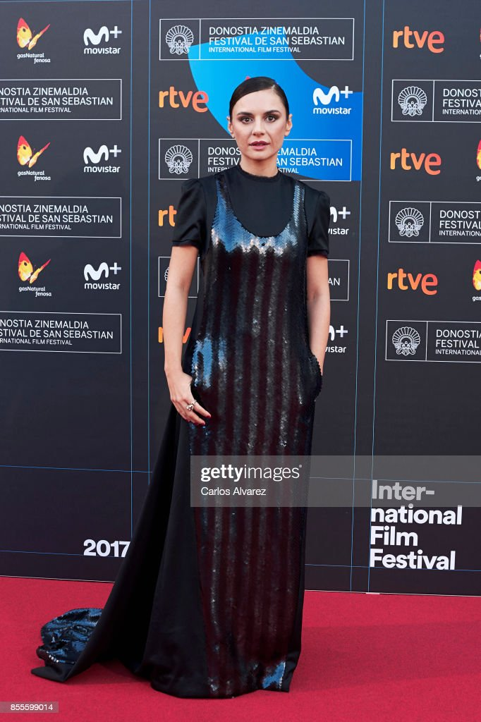 Actress Miren Ibarguren on the red carpet for the premiere of the Netflix Film 'Fe De Etarras' at San Sebastian International Film Festival 2017 on September 29, 2017 in San Sebastian, Spain.