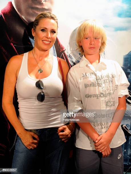 Actress Miriam Diaz Aroca arrives at the Harry Potter And The HalfBlood Prince premiere at Proyecciones Cinema on July 13 2009 in Madrid Spain