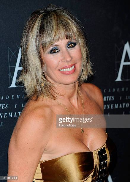 Actress Miriam Diaz Aroca arrives at the Spanish Cinema Academy Gold Medal Award 2009 ceremony at Reina Sofia museum on October 21 2009 in Madrid...