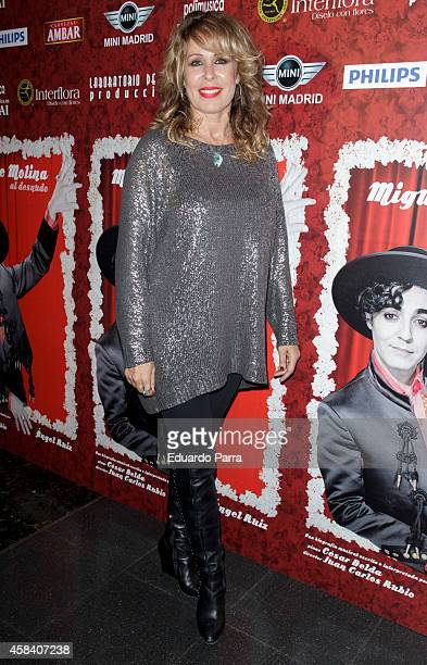 Actress Miriam Diaz Aroca attends 'Miguel de Molina al Desnudo' premiere at the Santa Isabel Theater on November 4 2014 in Madrid Spain