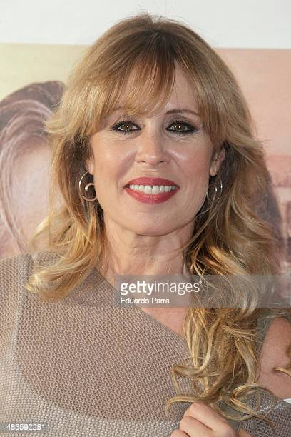 Actress Miriam Diaz Aroca attends 'Noche de tren a Lisboa' premiere photocall at Palafox cinema on April 9 2014 in Madrid Spain