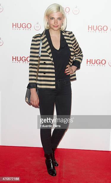 Actress Miriam Giovanelli attends Hugo Boss Woman fragrance presentation photocall at Matadero Madrid on April 21 2015 in Madrid Spain