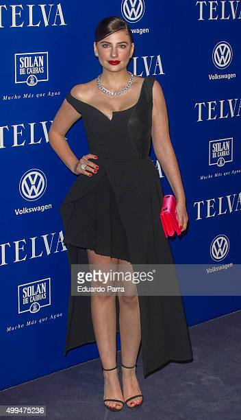 Actress Miriam Giovanelli attends 'T de Moda' awards by Telva Magazine photocall at Royal theatre on December 1 2015 in Madrid Spain