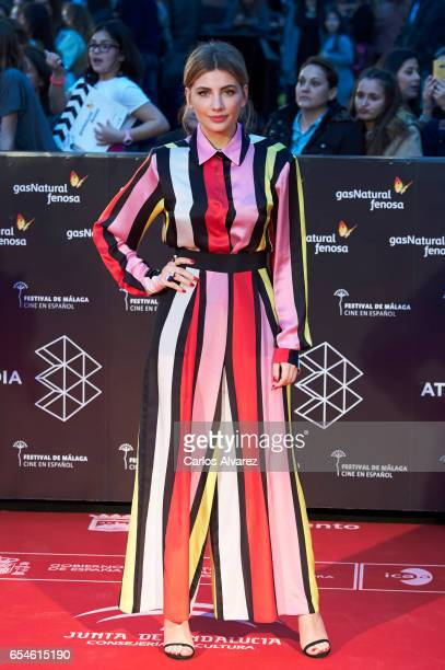 Actress Miriam Giovanelli attends the 20th Malaga Film Festival 2017 opening ceremony at the Cervantes Theater on March 17 2017 in Malaga Spain