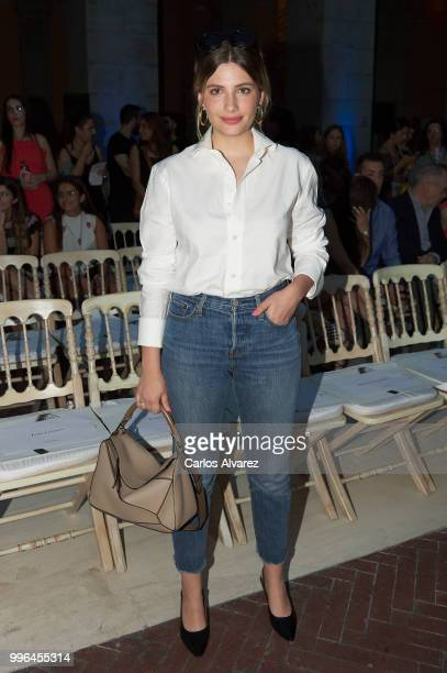 Actress Miriam Giovanelli attends the Juan Vidal show at Mercedes Benz Fashion Week Madrid Spring/ Summer 2019 on July 11 2018 in Madrid Spain