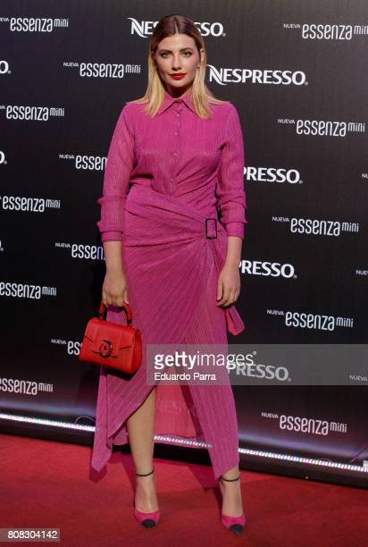 Actress Miriam Giovanelli attends the 'New Nespresso machine' photocall at Florida Retiro on July 4 2017 in Madrid Spain