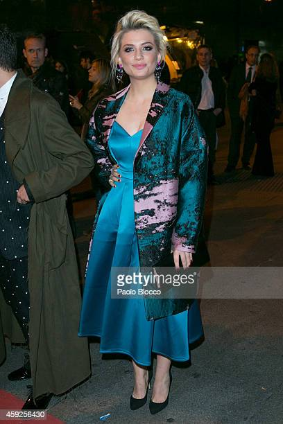 Actress Miriam Giovanelli is seen arraving to 'Marie Claire Prix de la Moda' awards on November 19 2014 in Madrid Spain