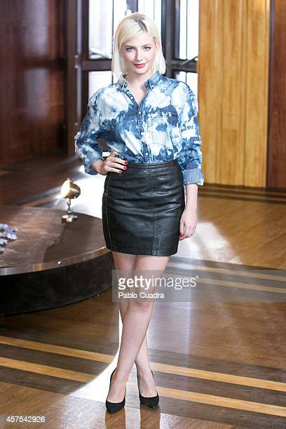 Actress Miriam Giovanelli poses during a photocall to present the 2nd season of 'Velvet' at A3 studios on October 20 2014 in Madrid Spain