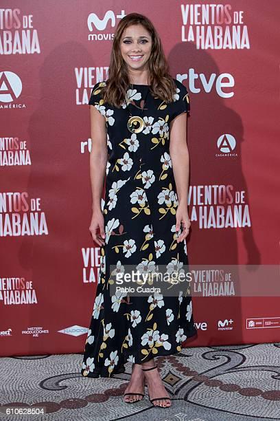Actress Miriam Hernandez attends the 'Vientos de La Habana' photocall at 'Casa de America' on September 27 2016 in Madrid Spain