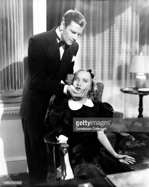 Actress Miriam Hopkins and Joel McCrea in a scene from the movie Woman Chases Man