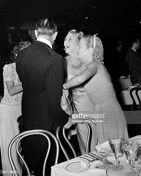Actress Miriam Hopkins has a fun time during an event in Los Angeles California