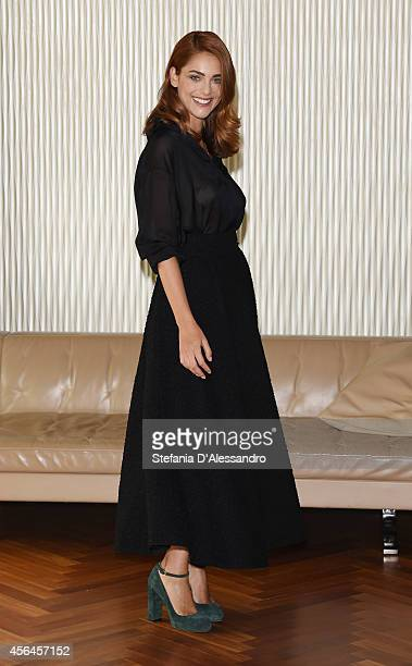 Actress Miriam Leone attends 'Fratelli Unici' photocall on October 1 2014 in Milan Italy
