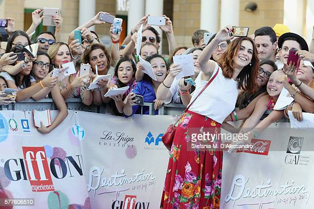 Actress Miriam Leone attends Giffoni Film Fest 2016 - Day 5 blue carpet on July 19, 2016 in Giffoni Valle Piana, Italy.