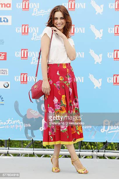Actress Miriam Leone attends Giffoni Film Fest 2016 Day 5 photocall on July 19 2016 in Giffoni Valle Piana Italy