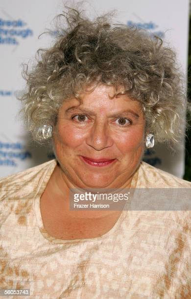 Actress Miriam Margolyes arrives at the UK Film Council's Inaugural Breakthrough Brits luncheon at the Four Seasons Hotel November 1 2005 in Los...