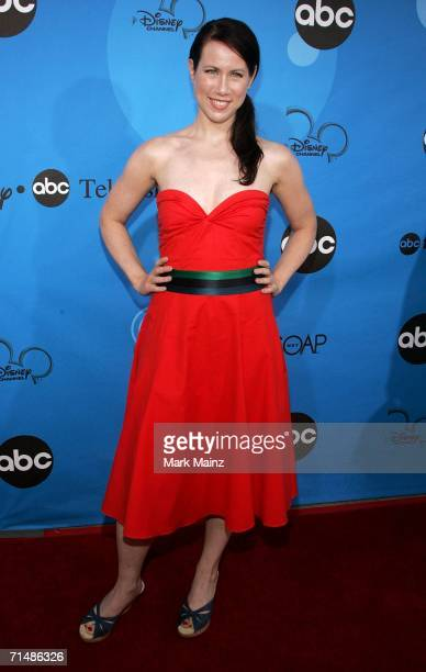 Actress Miriam Shor arrives to the Disney ABC Television Group All Star Party at the Wisteria Courtyard at Kidspace Children's Museum on July 19 2006...