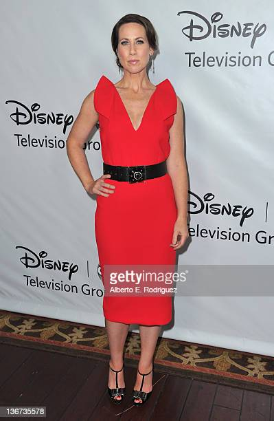 "Actress Miriam Shor arrives to the Disney ABC Television Group's ""TCA Winter Press Tour"" on January 10, 2012 in Pasadena, California."
