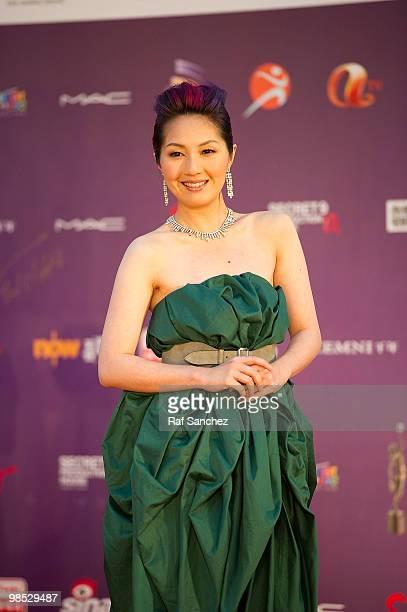Actress Miriam Yeung arrives at the 29th Hong Kong Film Awards at the The Hong Kong Cultural Centre on April 18 2010 in Hong Kong Hong Kong