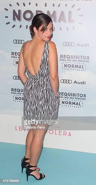 Actress Miriel Cejas attends 'Requisitos para ser una persona normal' premiere at Palafox cinema on June 3 2015 in Madrid Spain