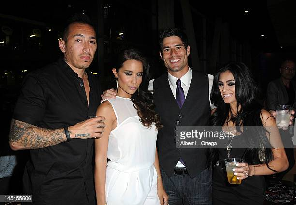 Actress Mirtha Michelle actor Joel Rush and actress Michelle Maylene at the AfterParty For Cinemax's Femme Fatales 2nd Season held at ArcLight...
