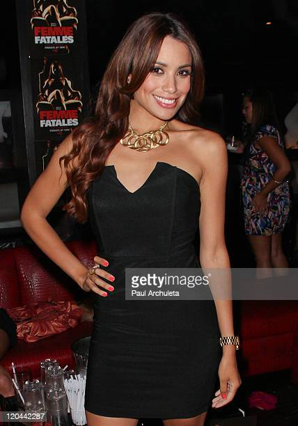 Actress Mirtha Michelle of Cinemax's 'Femme Fatales' attends the 9th Annual National Underwear Day charity event at Playhouse Hollywood on August 5...