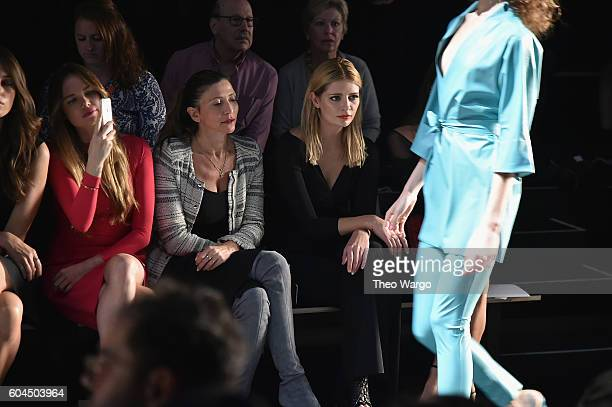 Actress Mischa Barton and Alicia Rountree attend the Chiara Boni La Petite Robe fashion show during New York Fashion Week The Shows at The Dock...