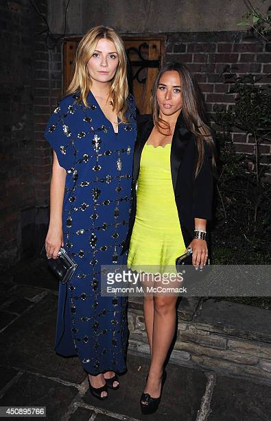 Actress Mischa Barton and Chloe Green attend the WTA PreWimbledon as guests enjoy Ciroc Vodka Party presented by Dubai Duty Free at Kensington Roof...