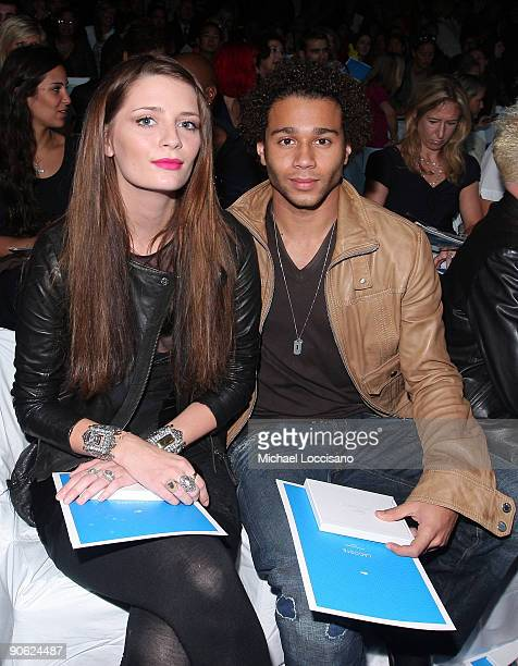 Actress Mischa Barton and Corbin Bleu attend the Lacoste SS10 Fashion Show at Bryant Park on September 12 2009 in New York City