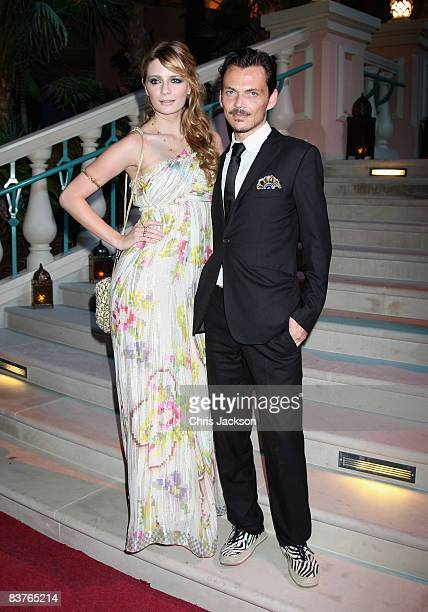 Actress Mischa Barton and designer Matthew Williamson attend the landmark Grand Opening of Atlantis The Palm Resort and the Palm Jumeirah on November...