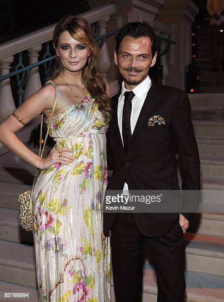 Actress Mischa Barton and Designer Matthew Williamson attends the landmark Grand Opening of Atlantis, The Palm Resort, and the Palm Jumeirah on...
