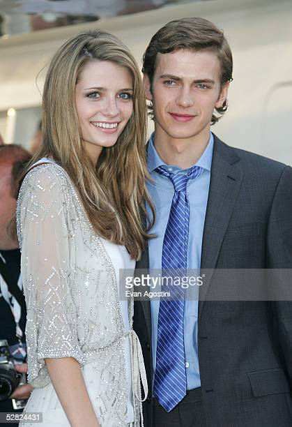 Actress Mischa Barton and Hayden Christensen attends a photocall promoting the film The DeCameron at the The Yacht Satine during the 58th...