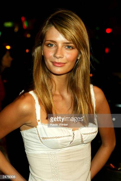 Actress Mischa Barton arrives at a viewing party for Fox TV's The OC at Sharkeez Resturant on September 9 2003 in Hermosa Beach California
