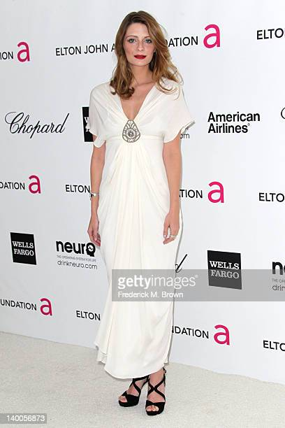 Actress Mischa Barton arrives at the 20th Annual Elton John AIDS Foundation's Oscar Viewing Party held at West Hollywood Park on February 26 2012 in...