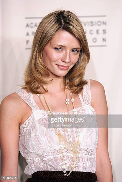 Actress Mischa Barton arrives at The Academy of Arts and Sciences presents the The OC Revealed at Warner Bros Studios Steven Ross Theatre on March 21...