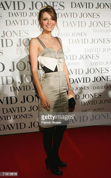 Actress Mischa Barton arrives at the David Jones Tahitian Summer Collection Launch at the Elizabeth Street David Jones store on August 9 2006 in...