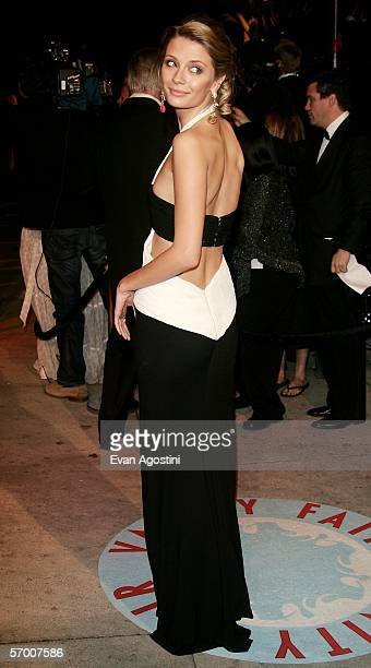 Actress Mischa Barton arrives at the Vanity Fair Oscar Party at Mortons on March 5 2006 in West Hollywood California