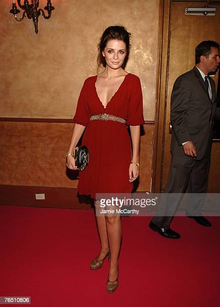 "Actress Mischa Barton arrives during ""Une Journe A Paris"" hosted by Van Cleef & Arpels at Hammerstein Ballroom on September 4, 2007 in New York City."