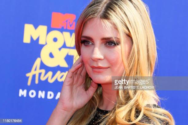 US actress Mischa Barton arrives for the 2019 MTV Movie TV Awards at the Barker Hangar in Santa Monica on June 15 2019 The 2019 MTV Movie TV Awards...