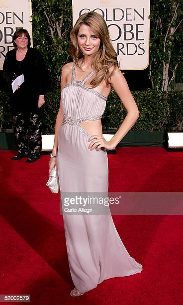 Actress Mischa Barton arrives to the 62nd Annual Golden Globe Awards at the Beverly Hilton Hotel January 16 2005 in Beverly Hills California