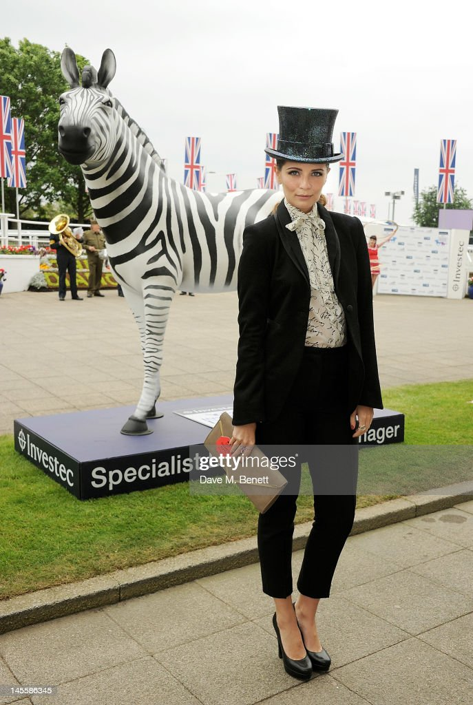 Actress Mischa Barton attends Investec Derby Day at the Investec Derby Festival, the first official event of the Queen's Diamond Jubilee weekend, at Epsom Downs Racecourse on June 2, 2012 in Epsom, England.