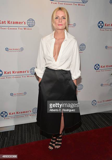 Actress Mischa Barton attends Kat Kramer's Films That Change The World on April 10 2015 in Hollywood California