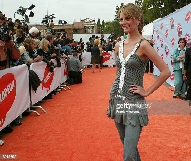 Actress Mischa Barton attends Nickelodeon's 17th Annual Kids' Choice Awards at Pauley Pavilion on the campus of UCLA April 3 2004 in Westwood...