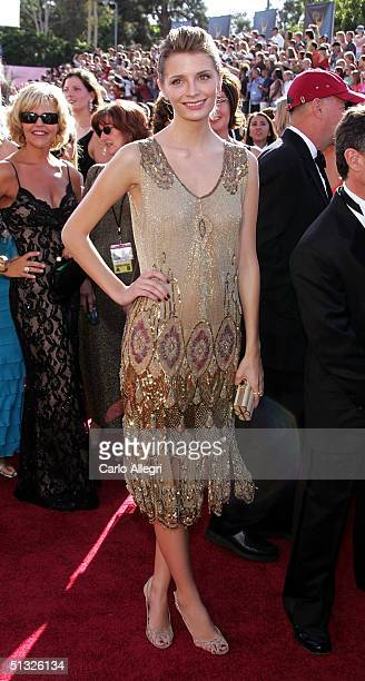 Actress Mischa Barton attends the 56th Annual Primetime Emmy Awards at the Shrine Auditorium September 19 2004 in Los Angeles California