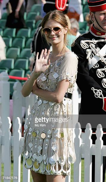 Actress Mischa Barton attends the Cartier International Polo match at the Guards Polo Club on 30 July 2006 in Egham England