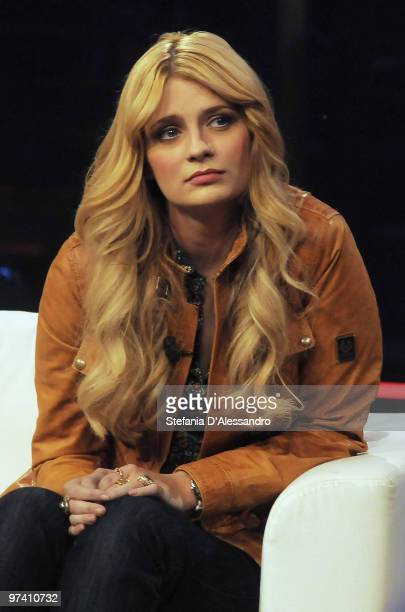 Actress Mischa Barton attends the 'Chiambretti Night' television Show at Mediaset Studios on March 3 2010 in Milan Italy