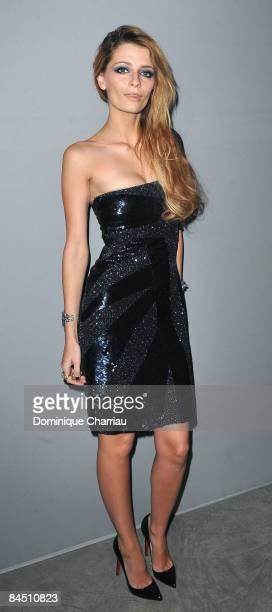 Actress Mischa Barton attends the Elie Saab fashion show during Paris Fashion Week Menswear Autumn/Winter 2009 at Palais de Tokyo on January 28, 2009...