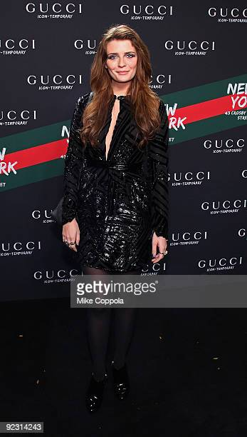 Actress Mischa Barton attends the Gucci IconTemporary Flash Sneaker Store launch on October 23 2009 in New York City