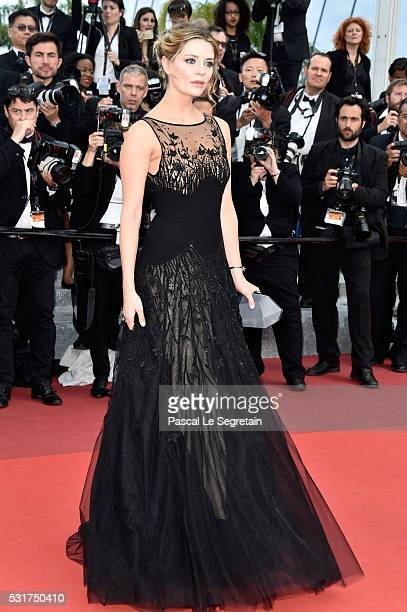 Actress Mischa Barton attends the 'Loving' premiere during the 69th annual Cannes Film Festival at the Palais des Festivals on May 16 2016 in Cannes...